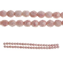 Bead Gallery Czech Glass Faceted Beads, Pink