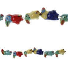 Bead Gallery Toucan Ceramic Beads, Multicolor