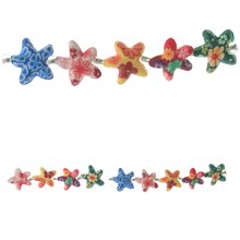 Bead Gallery Starfish Resin Beads, Multicolor