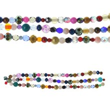 Bead Gallery Small Round Mix Beads, Multicolor
