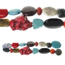 Bead Gallery Mix Stone Beads, Multicolor