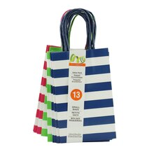 Navy, Pink & Green Stripe Value Pack Small Bags by Celebrate It