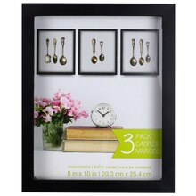 3 pack black shadow box by studio dcor 8 x 10
