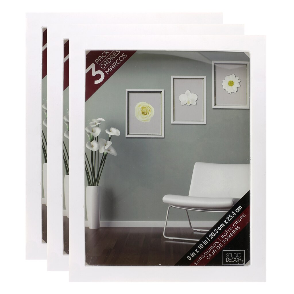 3 pack white shadow box 8 x 10 by studio d cor for Studio decor