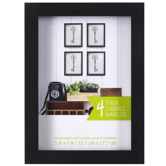4 pack black shadow box 5 x 7 by studio d cor for Black box container studios