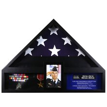 Deluxe Flag Case with Photo Display by Studio Décor