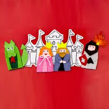 Castles and Princesses: Royal Court Felt Finger Puppets, medium