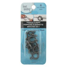 Hematite Rope Toggle Clasps by Bead Landing