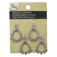 Earrings antique silver chandelier earrings by bead landing mozeypictures Images