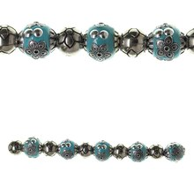 Bead Gallery Metal, Clay & Acrylic Mix Beads, Turquoise