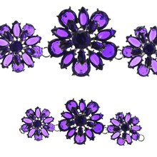 Bead Gallery 3D Acrylic Flower Connectors, Purple
