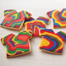 Groovy Tie-Dye Shirt Cookies, medium