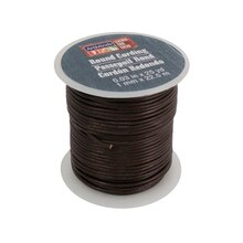Dark Brown Round Leather Cording by ArtMinds