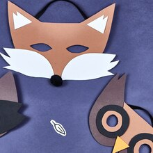 Woodland Forest: Foam Fox Mask, medium