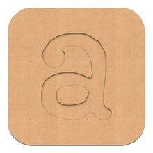 "4"" Routed Wood Letter Block by ArtMinds, A"