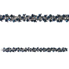 Bead Gallery On-Chain Glass Beads, Iridescent Blue