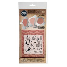 Sizzix Framelits with Stamps, Bird Talk by Tim Holtz