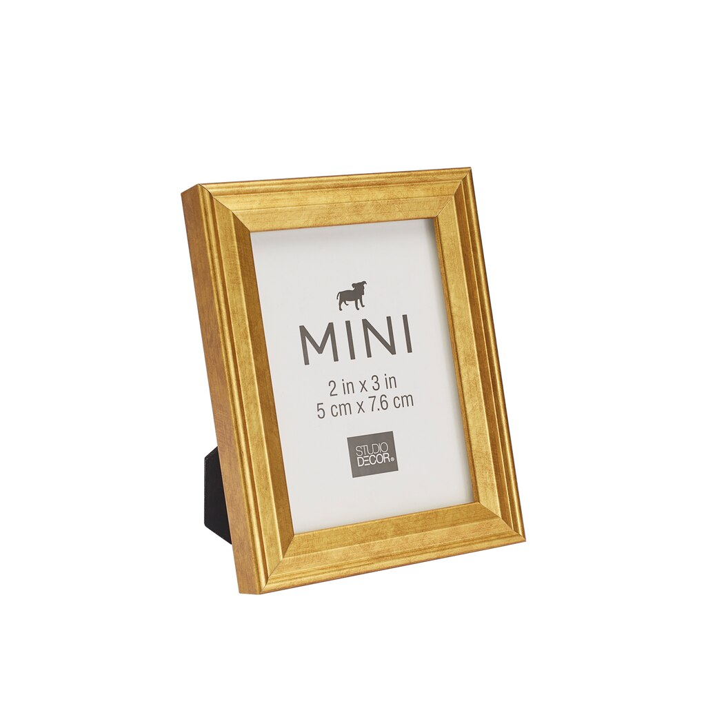 shop for the gold mini frame with mat by studio d cor at. Black Bedroom Furniture Sets. Home Design Ideas