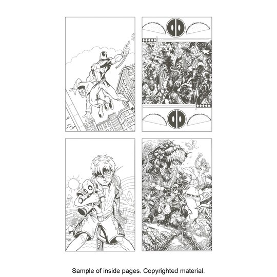color your own deadpool coloring book - Deadpool Coloring Book