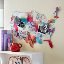 Mod Podge® Fabric Map, medium
