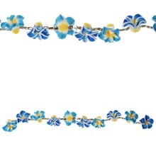 Bead Gallery Resin Flower Beads, Blue Mix