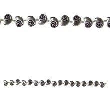 Bead Gallery Metal Conch Beads, Silver