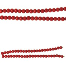 Bead Gallery Round Wood Beads, Red