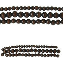 Bead Gallery Round Mix Wood Beads, Brown