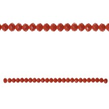 Bead Gallery Faceted Glass Beads, Coral