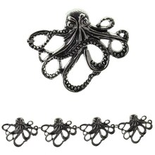 Bead Gallery Octopus Metal Beads, Silver