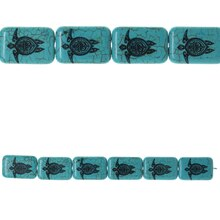 Bead Gallery Reconstituted Stone Turtle Print Beads