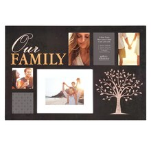 Gallery Solutions 6-Opening Collage Frame, Our Family