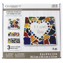Made with Love Garden Mosaics Stepping Stone Kit by Celebrate It