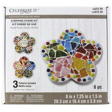 Made with Love Flower Power Stepping Stone Kit by Celebrate It