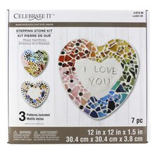 Made with Love Mosaic Heartthrobs Stepping Stone Kit by Celebrate It
