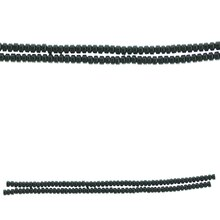 Bead Gallery Rondelle Hematite Beads, Black