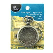 Found Objects Pocket Watch Frame Locket by Bead Landing
