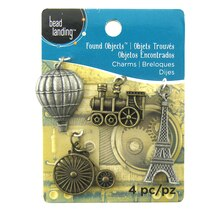 Found Objects Eiffel Charms by Bead Landing