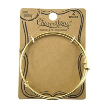 Charmalong Gold Slide Bangles by Bead Landing