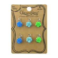 Charmalong Cool-Toned Rose Charms by Bead Landing