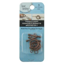 Copper Toggle Clasps by Bead Landing