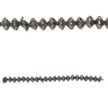 Bead Gallery Dotted Rondelle Metal Beads, Silver
