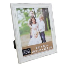 "Simply Essentials 8"" x 10"" White Distressed Tabletop Frame by Studio Décor"