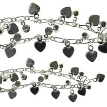Bead Gallery Small Heart Metal Chain, Silver