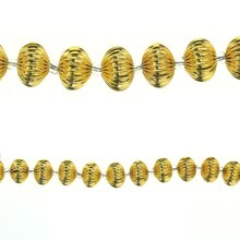 Bead Gallery Gold Plated Melon Beads