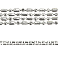 Bead Gallery Silver Ball & Tube Chain Necklace