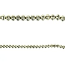 Bead Gallery Faceted Rondelle Metal Beads, Silver