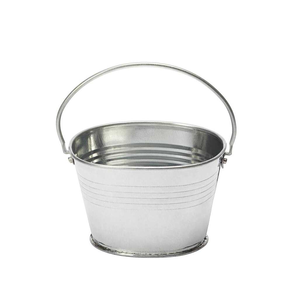 Small galvanized metal bucket by artminds for Tiny metal buckets