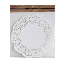 """Recollections Craft It 8"""" Doilies, White"""