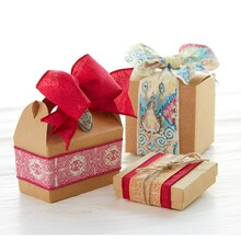 Boho Ribbon Embellished Gable Box, medium